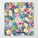 Pastels & Blue Bouquet Canvas Print