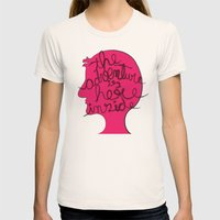 The Adventure is Here Inside Womens Fitted Tee Natural SMALL