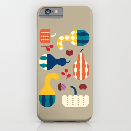 Autumn Gourds Gold iPhone & iPod Case