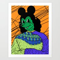 THE GREEN LADY. Art Print