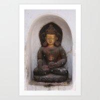 Swayambhunath Golden Bud… Art Print