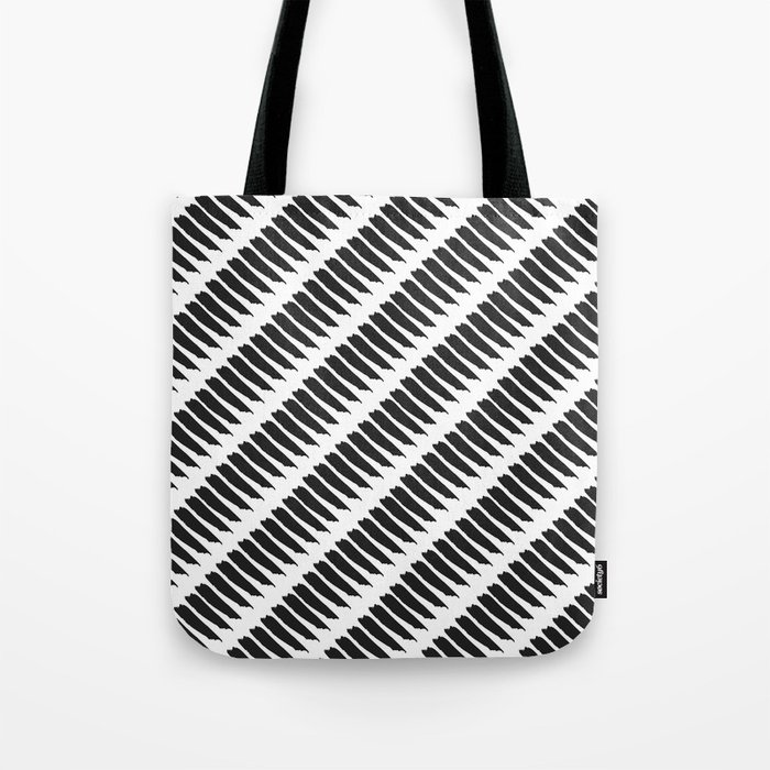 Black and white tiger stripes tote bag by pencil me in - Tiger stripes black and white ...