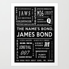 Bond in Black Art Print