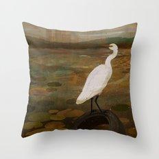 Marshland vs Man Throw Pillow