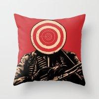 SHOOT! Throw Pillow