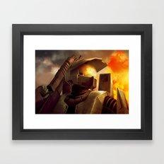 Epic Halo Spartan Framed Art Print