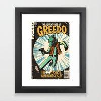Greedo Vintage Comic Cover Framed Art Print