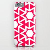 Zoutman Neon Pink Pattern iPhone 6 Slim Case