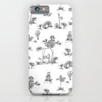 Black Toile Unicorn iPhone 6 Slim Case