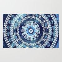 Marina Blue Mandala Rug