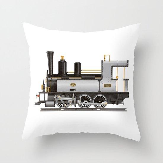 Locomotive Throw Pillow