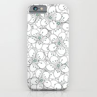 Cherry Blossom Mint iPhone 6 Slim Case