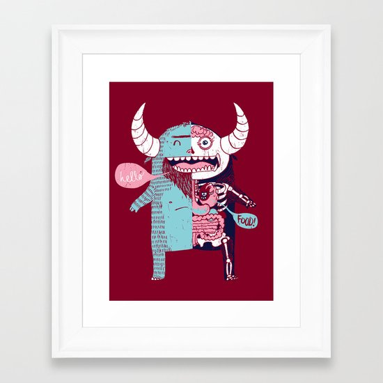 All Monsters are the Same Framed Art Print