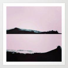Charcoal Wave Art Print
