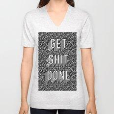 Get Shit Done Memphis Static Unisex V-Neck
