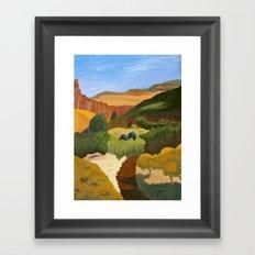Fresh Trail, painting Framed Art Print