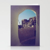Santorini Walkway IV Stationery Cards