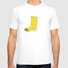 My favorite yellow boot Mens Fitted Tee SMALL White