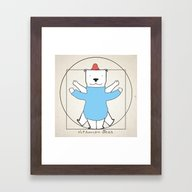 Vitruvian Bear Framed Art Print