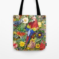 Red Parrot Tote Bag