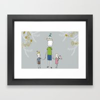 Daddy's Home. Framed Art Print