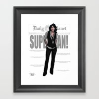 Best Darn Reporter Framed Art Print