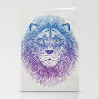 lion Stationery Cards featuring Face of a Lion by Rachel Caldwell