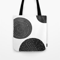 Back and White Retro Mod Flowers by Friztin Tote Bag