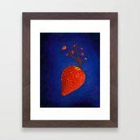 Strawberry Concept Framed Art Print