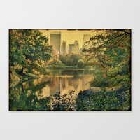 Central Park In Fall Canvas Print