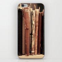 Old Books (brown) iPhone & iPod Skin