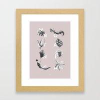 Botanica Letters | Powder Framed Art Print