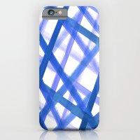 Criss Cross Blue iPhone 6 Slim Case