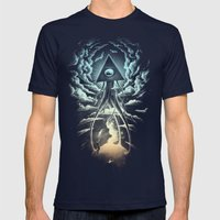 War Of The Worlds I. Mens Fitted Tee Navy SMALL