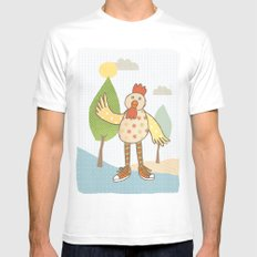 sunny rooster Mens Fitted Tee White SMALL
