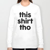White Chevron On Black Long Sleeve T-shirt