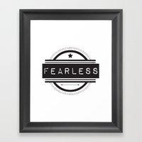 #Fearless Framed Art Print