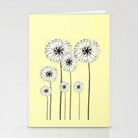 Dandelions Spring Print  Stationery Cards