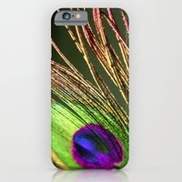 iPhone & iPod Case featuring Gold and Lime Peacock by 8daysOfTreasures