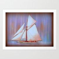 Ghost Sails Art Print