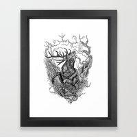 Low roar Framed Art Print