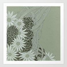 Flowerlines Art Print