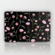 Laptop & iPad Skin featuring Peonies On Black by Lisa Argyropoulos