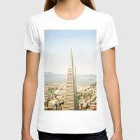 Transamerica Pyramid, Sa… Womens Fitted Tee White SMALL