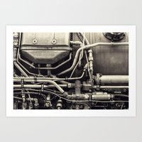 Jet Engine Mechanics Art Print