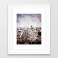 La Tour Eiffel {liberté Framed Art Print