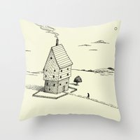 'Lonely House' Throw Pillow