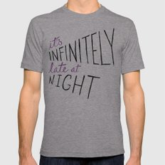 Infinitely Late at Night Mens Fitted Tee Athletic Grey SMALL