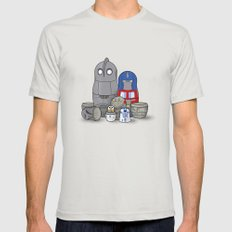 Nesting bots Mens Fitted Tee Silver SMALL
