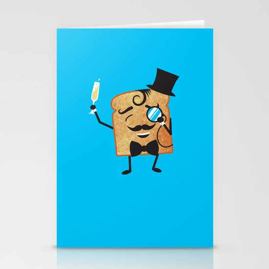 Sir Toast Makes a Toast Stationery Card